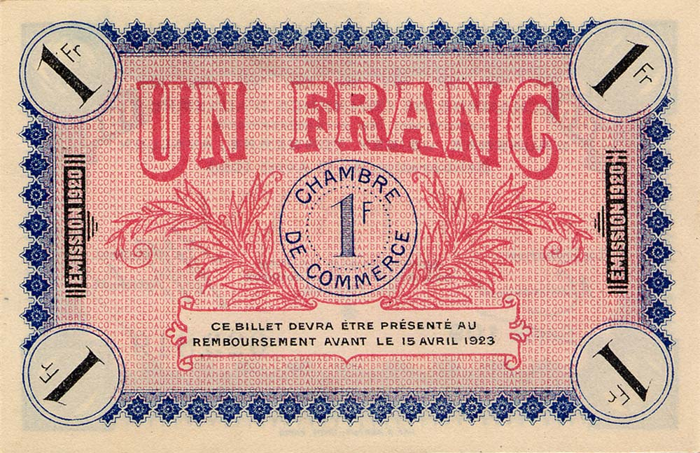 Billets de n cessit 1914 1918 auxerre yonne for Chambre commerce auxerre