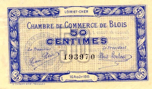 Billets de n cessit 1914 1918 blois loir et cher chambre de commerce de blois - Chambre de commerce de blois ...