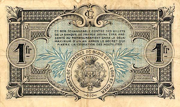 Billets de n cessit 1914 1918 blois loir et cher chambre de commerce de blois - Chambre du commerce blois ...