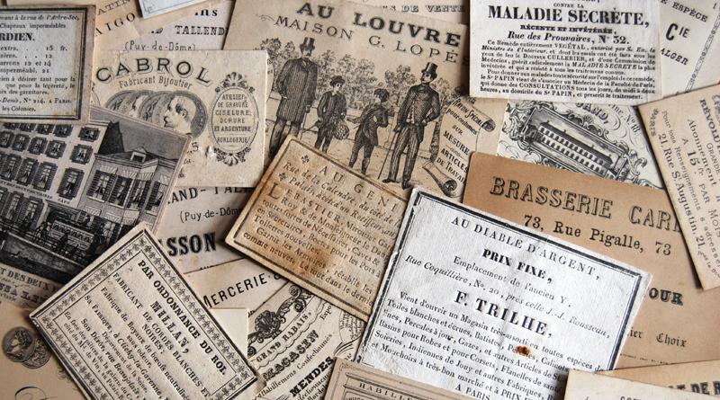 Collectionneurs – Laurent Nesly – Cartes commerciales anciennes