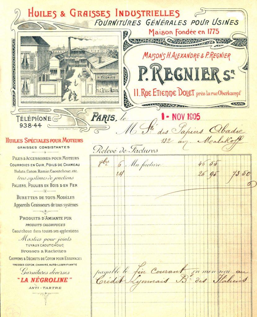 Regnier 1905